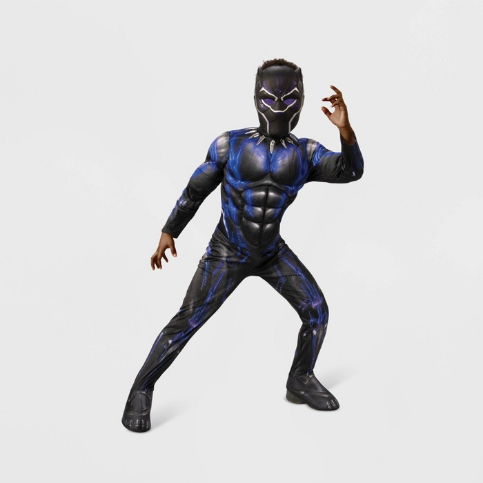 Boys' Marvel Black Panther Deluxe Muscle Halloween Costume - image 1 of 1