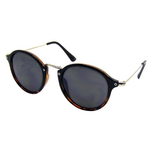 Women's Round Sunglasses - A New Day™ Black - image 1 of 1