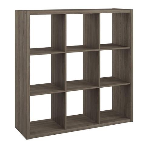 ClosetMaid 459000 Heavy Duty Decorative Bookcase Open Back 9-Cube Storage Organizer, Graphite Gray - image 1 of 4