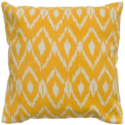 Ikat Designed Throw Pillow Yellow - Rizzy Home