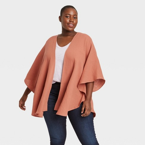 Women's Gauze Wrap Jacket - Universal Thread™ - image 1 of 2