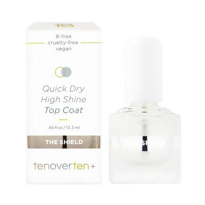 tenoverten The Shield High Shine Protective Top Coat - 0.45 fl oz