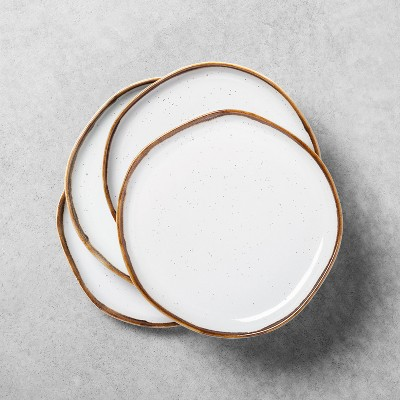 4pk Reactive Glaze Stoneware Salad Plate Light Sour Cream - Hearth & Hand™ with Magnolia