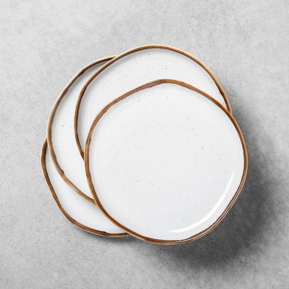 4pk Stoneware Reactive Glaze Salad Plate Set Sour Cream Hearth 38 Hand 8482 With Magnolia