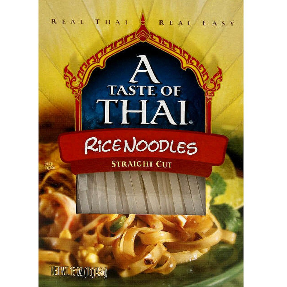 A Taste of Thai Straight Cut Rice Noodles 16 oz