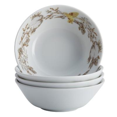 Bonjour Fruitful Nectar Porcelain Fruit Bowl Set Multi-color - 5oz Set of 4