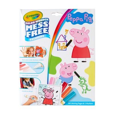 Crayola Color Wonder Peppa Pig Coloring Pages Set