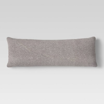 Sherpa Body Pillow Cover Gray - Room Essentials™