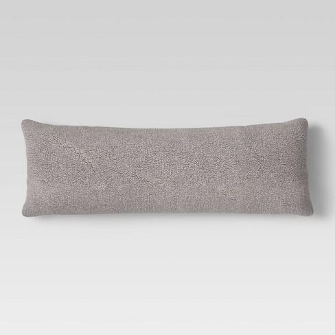 Sherpa Body Pillow Cover.Sherpa Body Pillow Cover Room Essentials