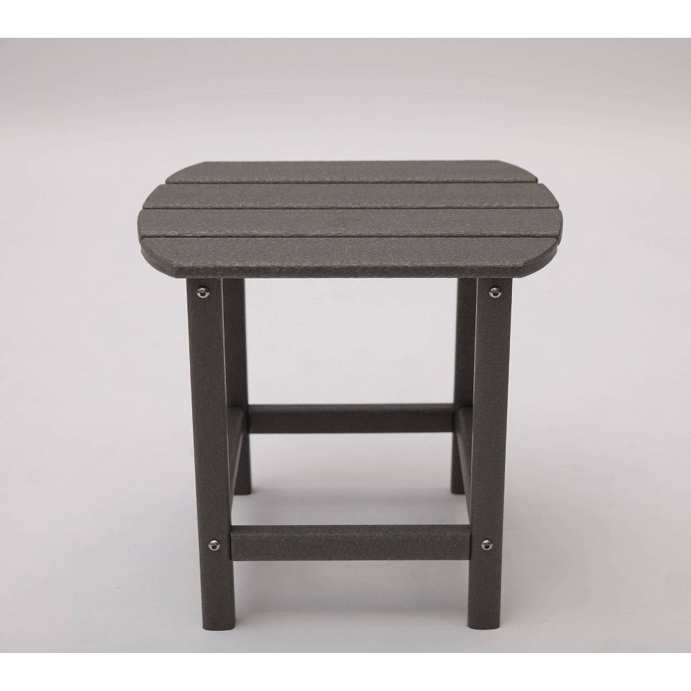 "Image of ""Corona 18"""" Recycled Plastic Side Table - Gray - LuXeo"""