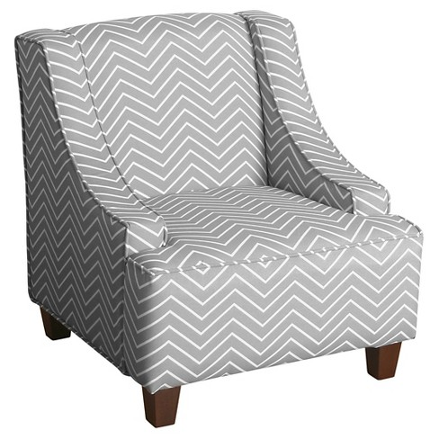 Cameron Juvenile Swoop Arm Accent Chair Kids Upholstered Chair Gray - Homepop - image 1 of 8