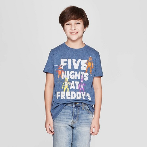 Boys' Five Nights at Freddy's Short Sleeve T-Shirt - Navy Heather - image 1 of 3