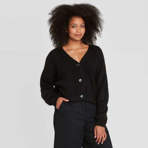 Women's Puff Button-Front Cardigan - Prologue™ - image 1 of 3