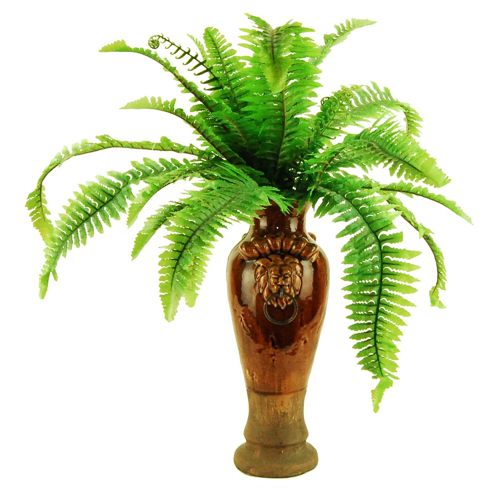Image of Artificial Fern Plant Green 23 - Lcg Florals