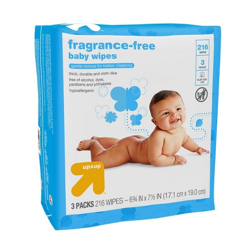 f3678ef1120 Baby Wipes Unscented 216ct - Up&Up™ : Target