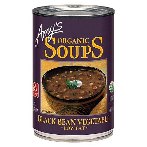 Amy's® Organic Low Fat Black Bean Vegetable Soup 14.5 oz - image 1 of 1