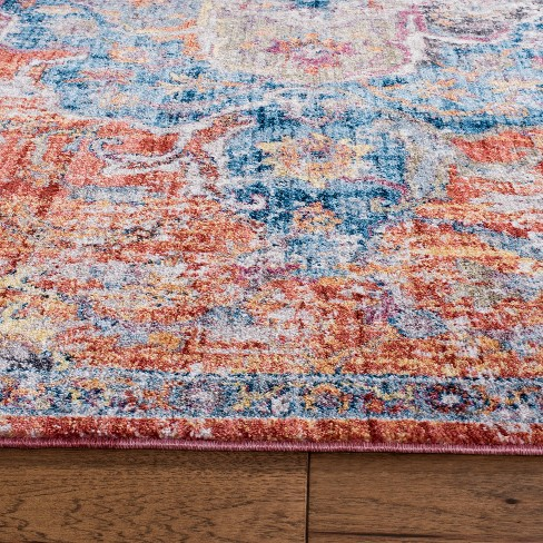 7 X7 Medallion Loomed Square Area Rug