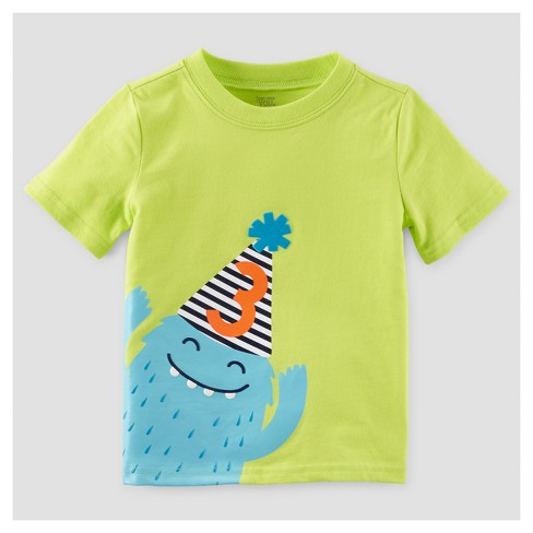Toddler Boys' T-Shirt - Just One You™ Made by Carter's® Lime 4T - image 1 of 1