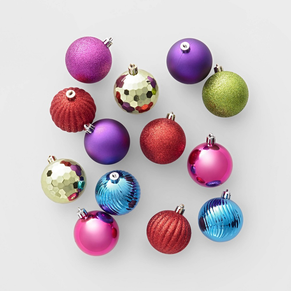 Image of 100ct Christmas Ornament Set Multicolor - Wondershop