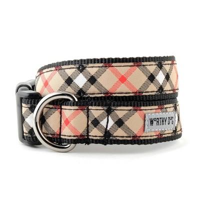 The Worthy Dog Bias Plaid Dog Collar