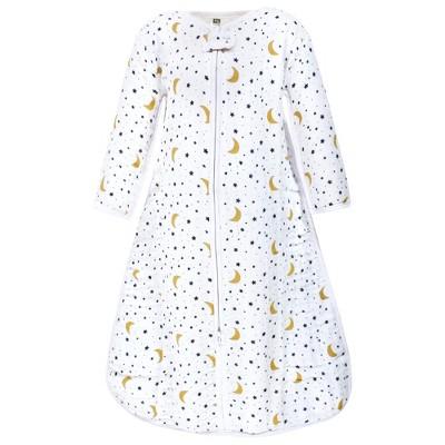 Hudson Baby Unisex Baby Long Sleeve Muslin Sleeping Bag, Wearable Blanket, Sleep Sack, Moon