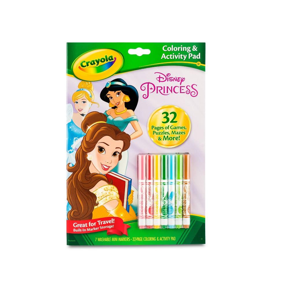 Image of Crayola 32pg Disney Princess Coloring Activity Pad