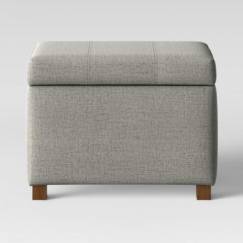 Essex Storage Ottoman Gray - Threshold™ - image 1 of 4