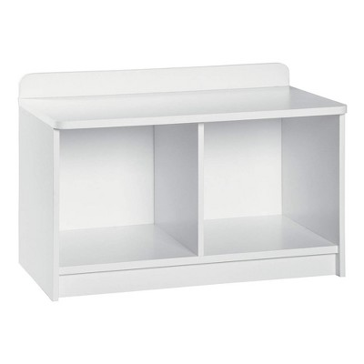 ClosetMaid Cubeical 149400 Heavy Duty Small Wood 2-Cube Storage Toy-chest Bench in White with Hardware for Bedroom, Playroom, Toys