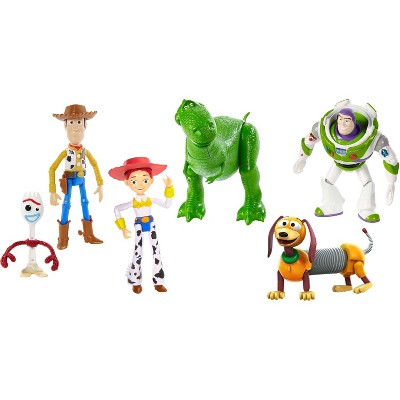 Disney Store Toy Story 4 Deluxe Figurine Playset Woody Buzz Forky 9 Figures NEW