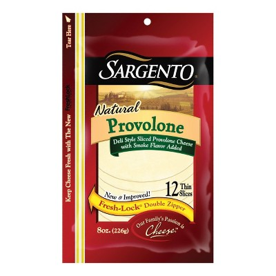 Sargento Natural Deli-Style Sliced Provolone Cheese - 8oz