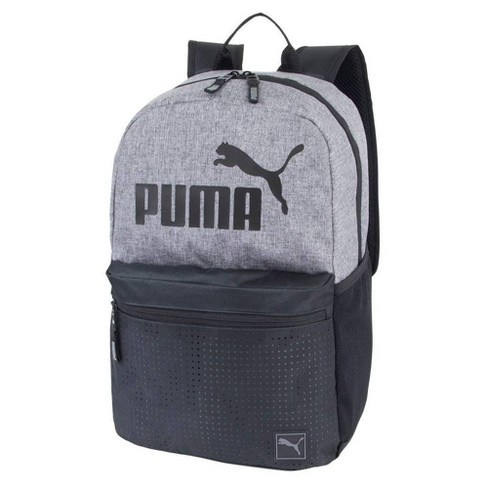 "Puma 18.5"" Backpack - Heather Gray/Black - image 1 of 4"