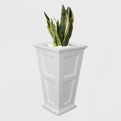 Fairfield Tall Planter White - White - Mayne