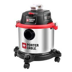 PORTER-CABLE PCX18406-5B 5 Gal. Wet/Dry Shop Vac Vacuum (Certified Refurbished)