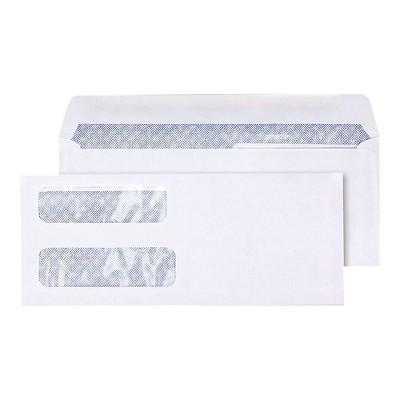 Staples Lsr Check Size Double-Window Security-Tint Gummed Envelopes 1 000/BX 381898