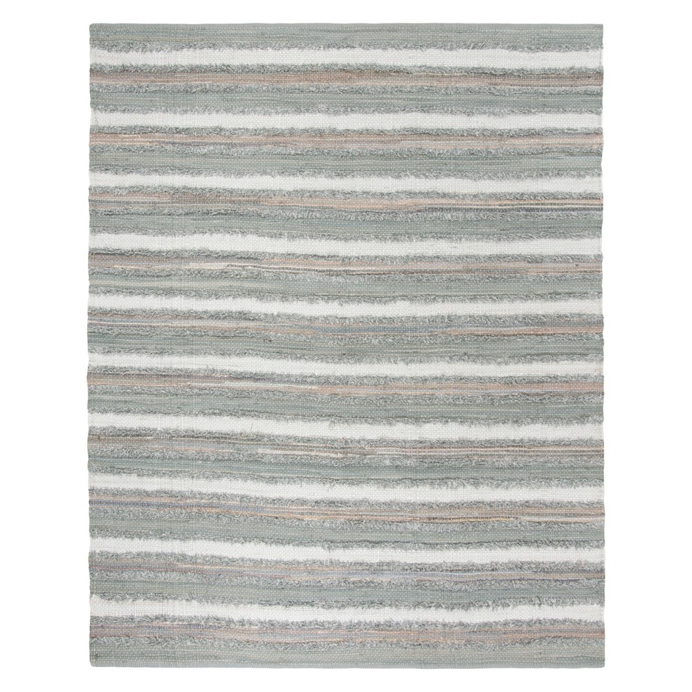Gray Stripe Woven Area Rug 8'X10' - Safavieh