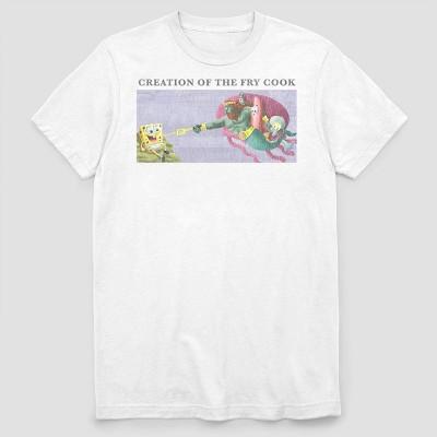 Men's Nickelodeon Sponge Angelo Short Sleeve Graphic Crewneck T-Shirt - White
