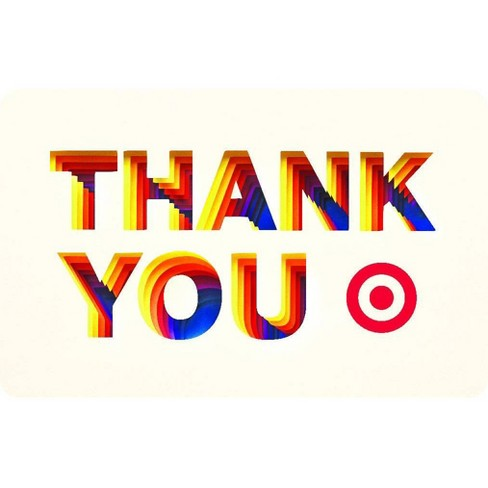 Thank You Paper Target GiftCard - image 1 of 1