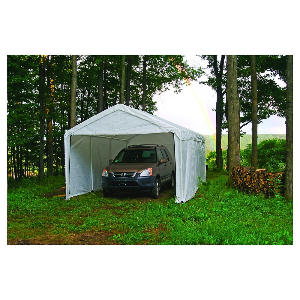 10 x 20 Canopy Enclosure Kit - White- Shelter Logic, White