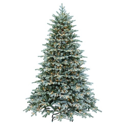7.5ft Pre-Lit Artificial Christmas Tree Full Flocked Vermont - Clear Lights - image 1 of 1