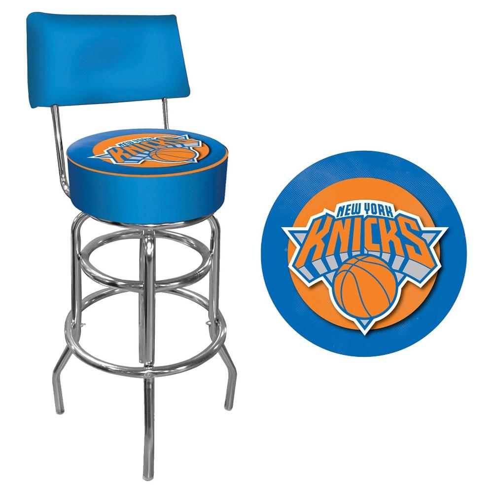 New York Knicks Hardwood Classics Bar Stool with Back