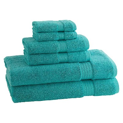 KassaDesign 6pc Towel Set - Aqua