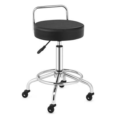 Costway Pneumatic Work Stool Rolling Swivel Task Chair Spa Office Salon w/Cushioned Seat