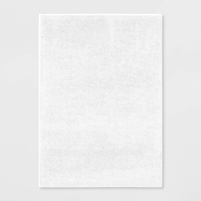 5'x7' Shag Rug White - Room Essentials™