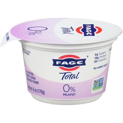 FAGE Total 0% Milkfat Plain Greek Yogurt - 6oz