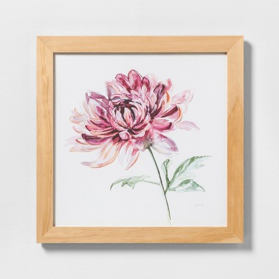 24  X 36  Pink Flower Wall Art with Natural Wood Frame - Hearth & Hand™ with Magnolia