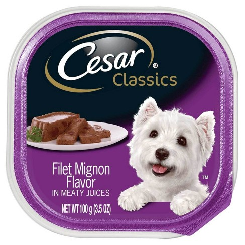CESAR Canine Cuisine Filet Mignon Flavor Wet Dog Food - 3.5oz tray - image 1 of 1