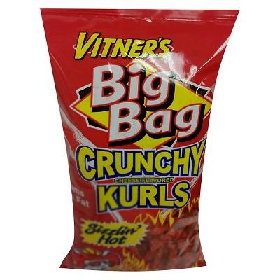 Vitner's Big Bag Sizzlin' Hot Cheese Flavored Crunchy Kurls - 8.75oz