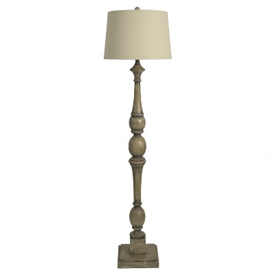 Baluster Floor Lamp Gray (Lamp Only)- Decor Therapy
