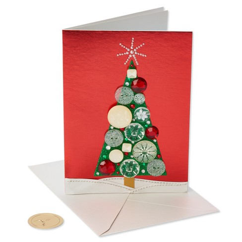 Papyrus Pearls And Button Tree Greeting Card Target
