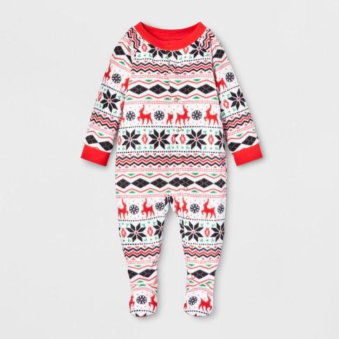 39a2fcd228 Baby Holiday Fair Isle Footed Sleeper - Wondershop...   Target